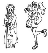 Coloriage Professeure Magnolia et Sonya