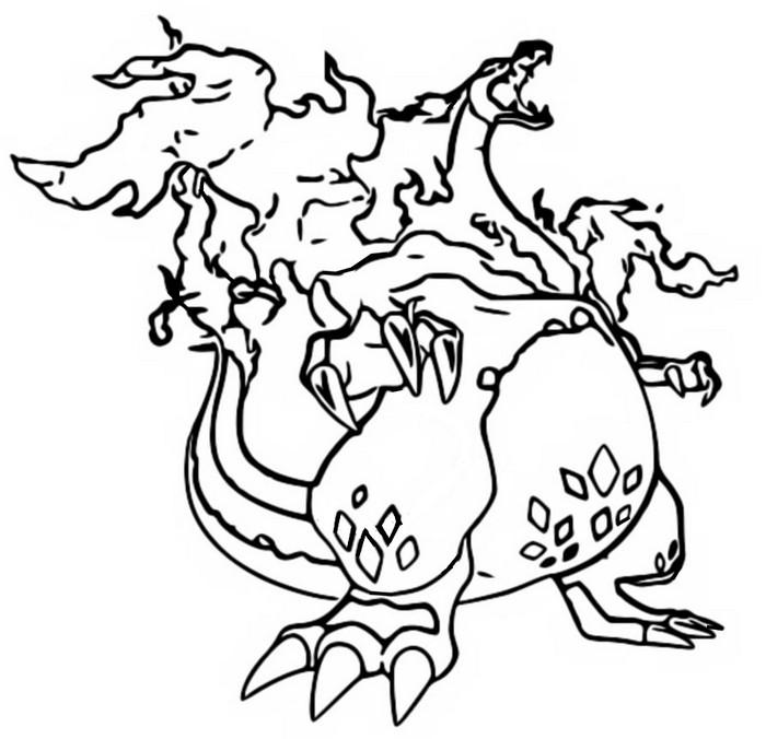 Coloriage Pokémon Gigamax Gigamax Dracaufeu 5