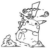 Coloriage Pikachu Gigamax