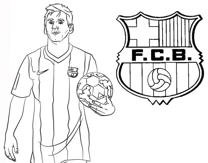 coloriage ligue des chions 2020 lionel messi fc