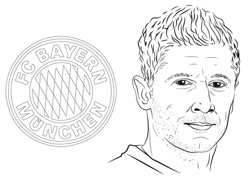 Coloriage Bayern - Robert Lewandowski - Ligue des Champions 2020