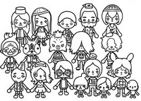 Coloriage City - Personnages