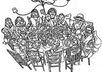 Coloriage Pessa'h en famille