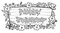 Coloriage Happy Passover