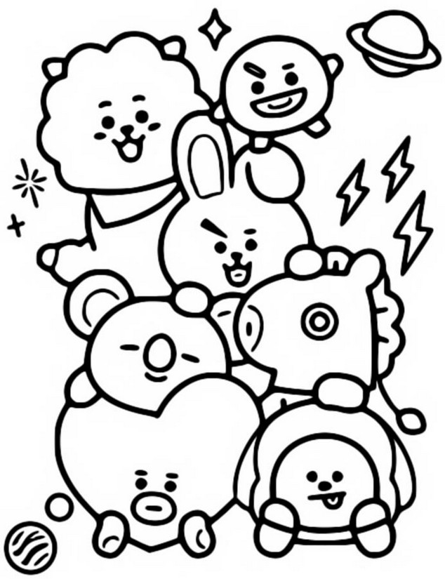 Coloriage BT21 : BTS 10