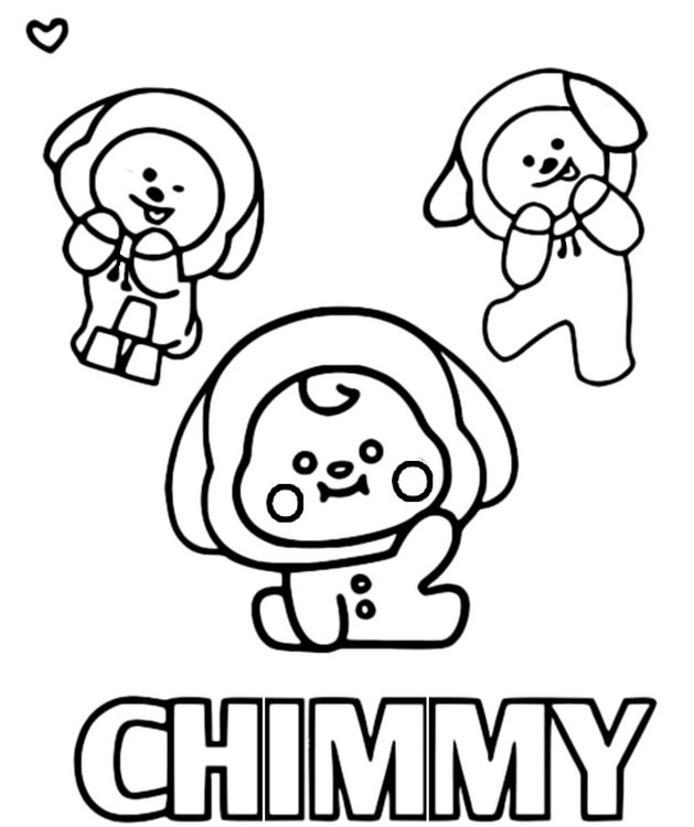 Coloriage Chimmy - BT21
