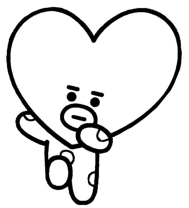 Coloriage Tata - BT21