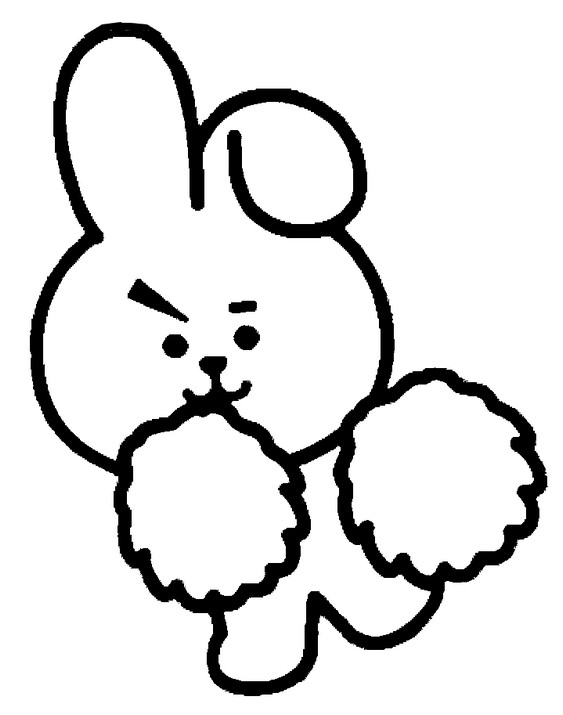 Coloriage Cooky - BT21