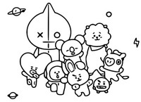 Coloriage Line Friends