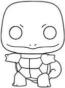 Coloriage Squirtle - Carapuce