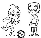 Coloriage Football avec Timmy