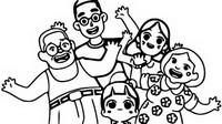 Coloriage Avec la famille