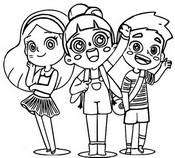 Coloriage Avec les amis