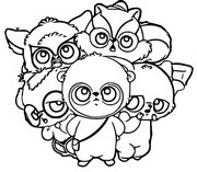 Coloriage Yoohoo & Friends