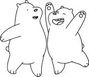 Coloriage Polaire et Grizz