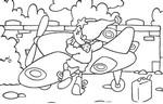 Coloriage Oui-Oui et son avion