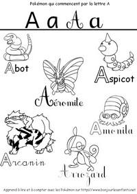 Coloriage Les Pokémon qui commencent par A: Abot, Apsicot, Aéromite, Arcanin,...