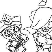 Coloriage Poco Starr et Colette maléfique
