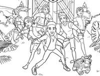 Coloriage Darius Bowman et ses amis