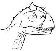 Coloriage Toro, Carnotaurus