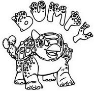 Coloriage Ankylosaure Bumpy