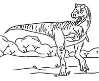 Coloriage Carnotaurus