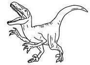 Coloriage Veloraciptor, Blue