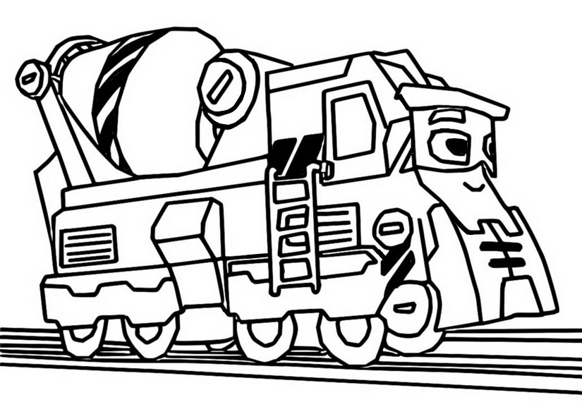 Coloriage Brock le bâtisseur - Mighty Express