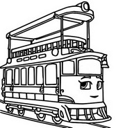 Coloriage Penny le tramway
