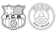 Coloriage 8èmes de finale - Barcelona (ESP) - Paris PSG (FRA)