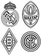 Coloriage Groupe B: Real Madrid - Chakhtar Donetsk - Inter Milan - Borussia Mönchengladbach