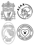Coloriage Groupe D: Liverpool FC - Ajax Amsterdam - Atalanta Bergame - FC Midtjylland