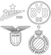 Coloriage Groupe F: Zénith Saint-Pétersbourg - Borussia Dortmund - SS Lazio - Club Bruges KV
