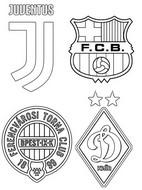 Coloriage Groupe G: Juventus FC - FC Barcelone - Dynamo Kiev - Ferencváros TC