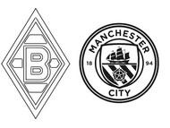 Coloriage 8èmes de finale - Mönchengladbach (GER) - Manchester City (ENG)