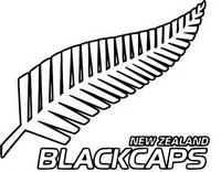 Coloriage Equipe de Nouvelle Zélande