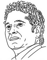Coloriage Sachin Tendulkar