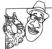 Coloriage Joe et son chat