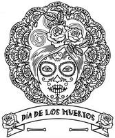 Coloriage Dia de los muertos