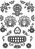 Coloriage Tatouage fleurs