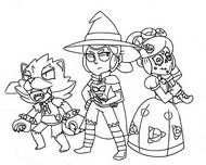 Coloriage Skins d'Halloween