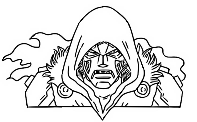 Coloriage Doctor Doom - Fortnite - Marvel
