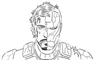 Coloriage Tony Stark et Iron Man