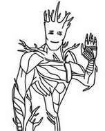 Coloriage Groot
