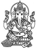 Coloriage Ganesh