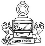 Coloriage Lord Torch 414 Super rare