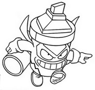 Coloriage Wicked Line 418 Trickster Troop