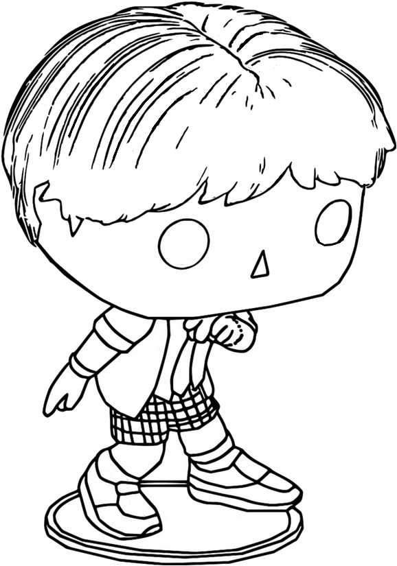 Coloriage J-Hope - Funko Pop BT21 BTS