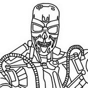 Coloriage Terminator T-800