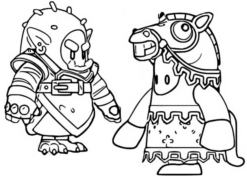 Coloriage Skins saison 2 - Fall Guys Ultimate Knockout